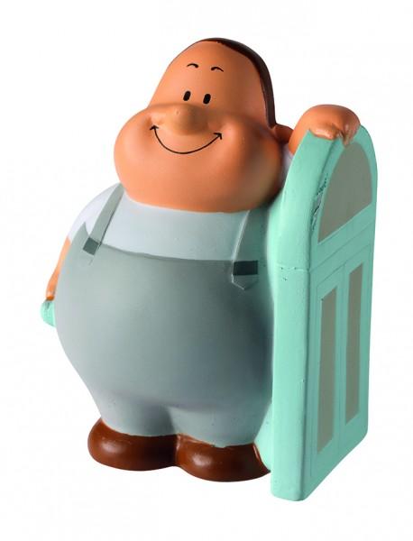 SQUEEZIES® Glaser Bert® - bunt (Größe: ca. 10 cm) - optional mit Tampondruck