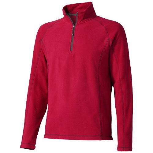Bowlen Langarm Fleeceshirt mit 1/4 Reißverschluss versch. Größen in versch. Farben mit Siebdruck