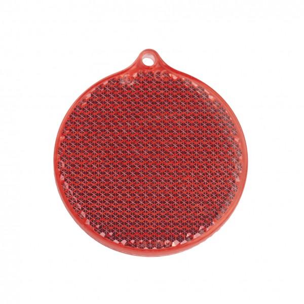 Fußgängerreflektor Rondell - rot (Größe: ca. 5,5 cm) - optional mit Tampon-/Siebdruck