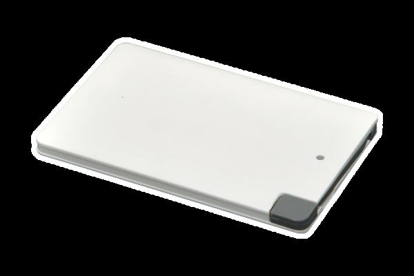 Powerbank P2500, weiß, integriertes Kabel