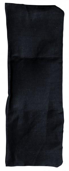 Getreidekissen/ Wärmekissen, klein - schwarz (Größe: ca. 30 cm) - optional mit Siebdrucktransfer