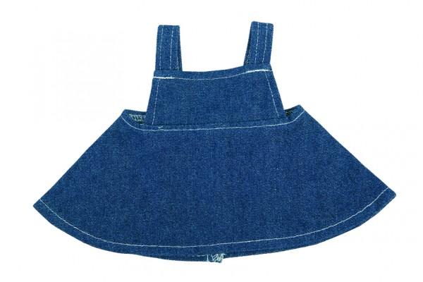 Jeans-Rock für Plüschtiere Gr. M - dunkelblau (Größe: passend für Plüschtiere) - optional mit Siebdr