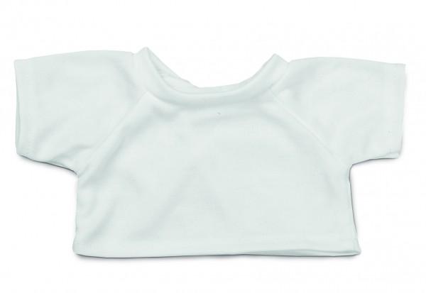 Mini-T-Shirt Gr. L - weiß (Größe: passend für Plüschtiere) - optional mit Siebdrucktransfer, Direktt