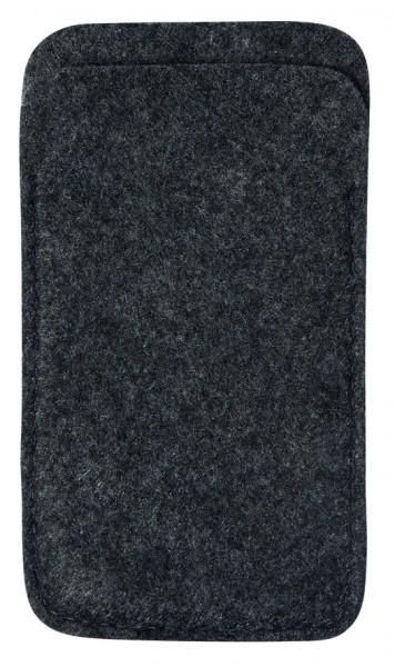 Polyesterfilz Smartphone-Tasche (Filzstärke: ca. 2,5 mm) - anthrazit - optional mit Siebdrucktransf