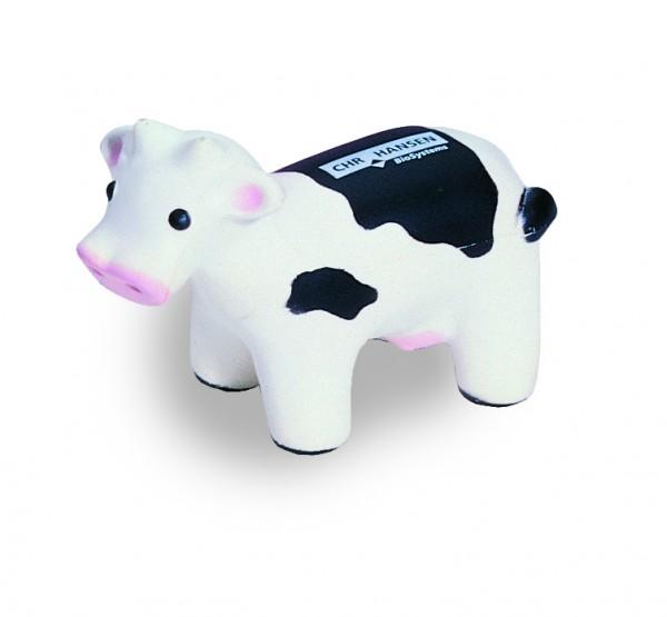 SQUEEZIES® Kuh - schwarz/weiß (Größe: ca. 11,5 cm) - optional mit Tampondruck