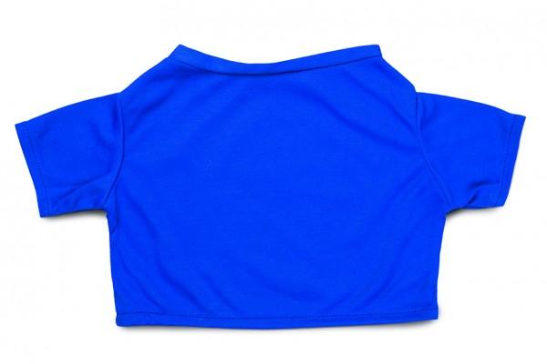 Mini-T-Shirt Gr. XXL - blau (Größe: passend für Plüschtiere) - optional mit Siebdrucktransfer