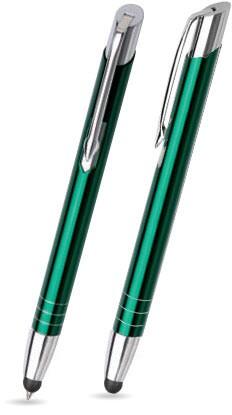 LEILA TOUCH Dunkel-Grün glänzender Metallkugelschreiber