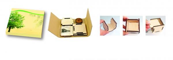 Pflanzsteckbox Natur, Robinie, 1-4 c Digitaldruck inklusive