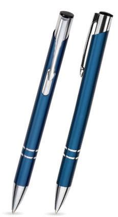 LIBO Blauer Metallkugelschreiber