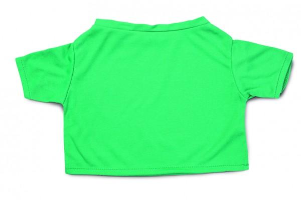 Mini-T-Shirt Gr. XXL - grün (Größe: passend für Plüschtiere) - optional mit Siebdrucktransfer