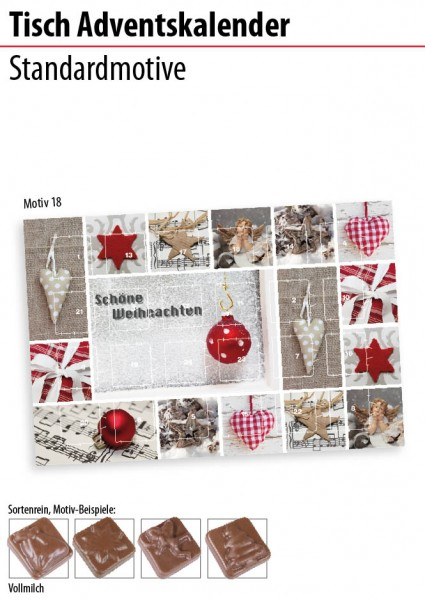 Tisch Adventskalender Standardmotive