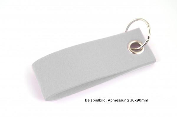 Schlüsselanhänger aus Filz in Grau meliert - Schlaufe ca. 30x90mm - made in Germany