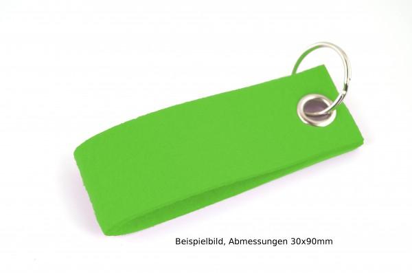 Schlüsselanhänger aus Filz in Hellgrün- Schlaufe ca. 120x30mm - made in Germany