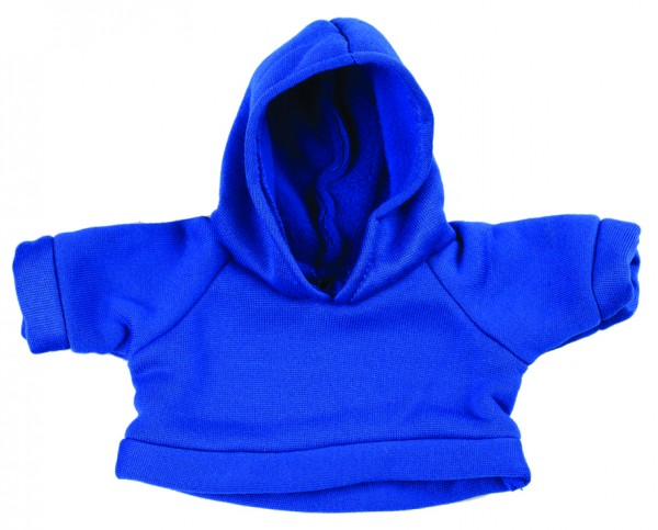 Sweat-Shirt mit Kapuze Gr. S - blau (Größe: passend für Plüschtiere) - optional mit Siebdrucktransfe