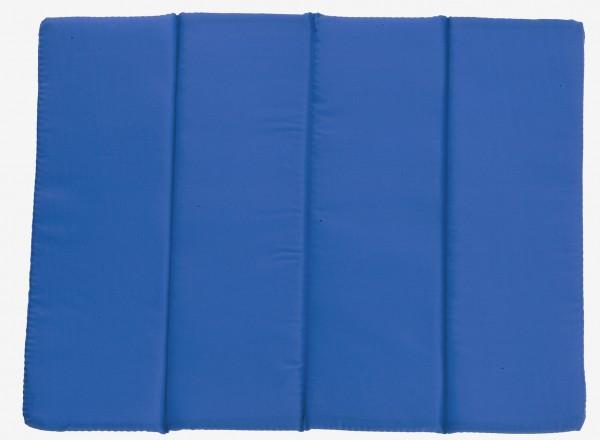Sitzkissen faltbar - blau - optional mit Siebdrucktransfer