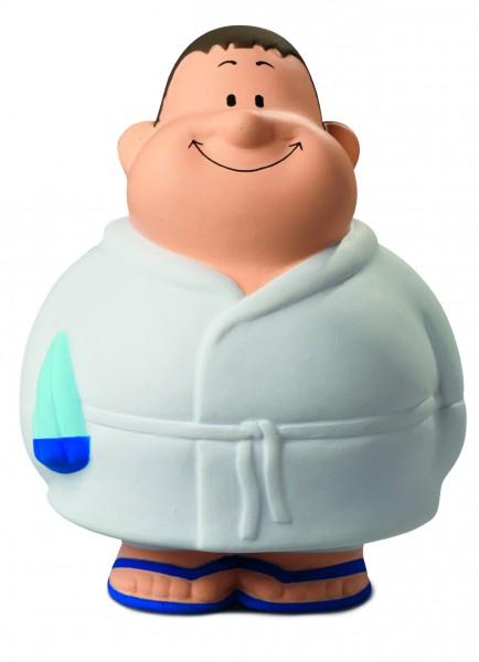 SQUEEZIES® Wellness Bert® - bunt (Größe: ca. 10 cm) - optional mit Tampondruck