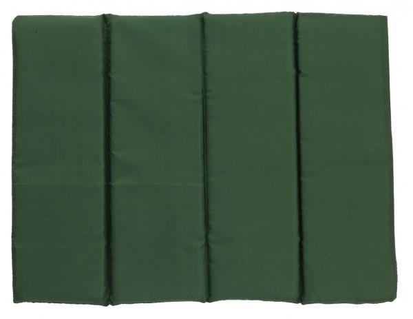 Sitzkissen faltbar - grün - optional mit Siebdrucktransfer