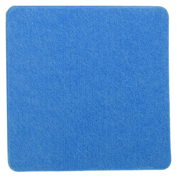 Polyesterfilz Untersetzer Quadrat (Filzstärke: ca. 5 mm) - blau - optional mit Siebdrucktransfer