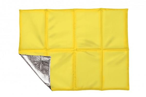 Sitzkissen faltbar, mit Hülle - gelb - optional mit Siebdrucktransfer