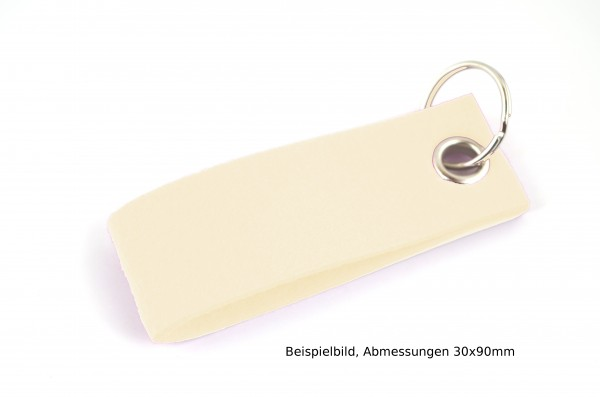 Schlüsselanhänger aus Filz in Creme - Schlaufe ca. 120x30mm - made in Germany