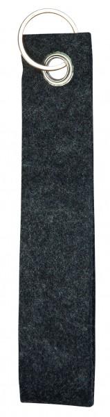Polyesterfilz-Schlaufe, klein (Filzstärke: ca. 2,5 mm) - anthrazit - optional mit Siebdrucktransfer