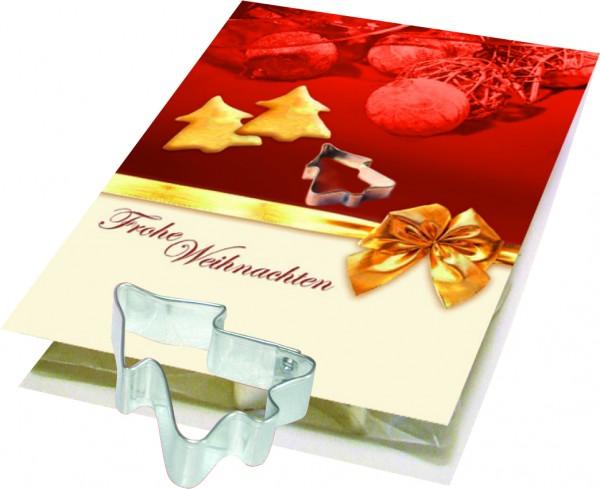 Backe Deinen Weihnachtsbaum, Förmchen Tannenbaum, 1-4 c Digitaldruck inklusive