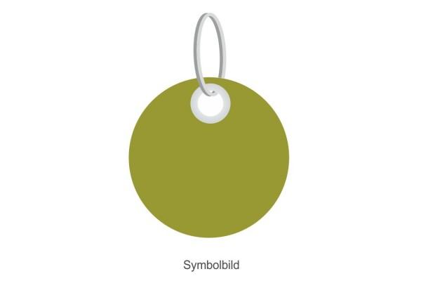 Filz Schlüsselanhänger - Minimal. Scheibe - optional mit Aufdruck / Schlüsselring / Werbekarte