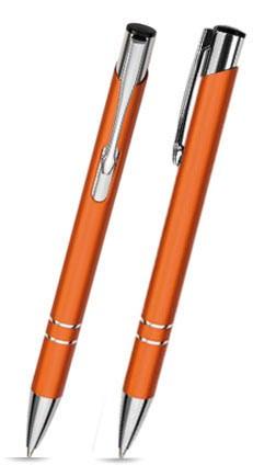 LIBO Oranger Metallkugelschreiber