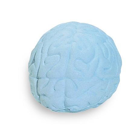 SQUEEZIES® Gehirn - grau (Größe: ca. 7,5 cm) - optional mit Tampondruck