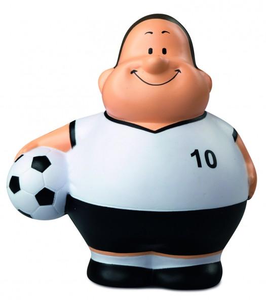 SQUEEZIES® Soccer Bert® - bunt (Größe: ca. 10 cm) - optional mit Tampondruck