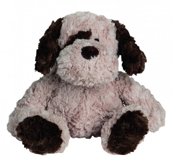 OEKO-TEX® Hund Sönke - hellbraun (Größe: ca. 20 cm) - optional mit Siebdrucktransfer, Direkttransfer