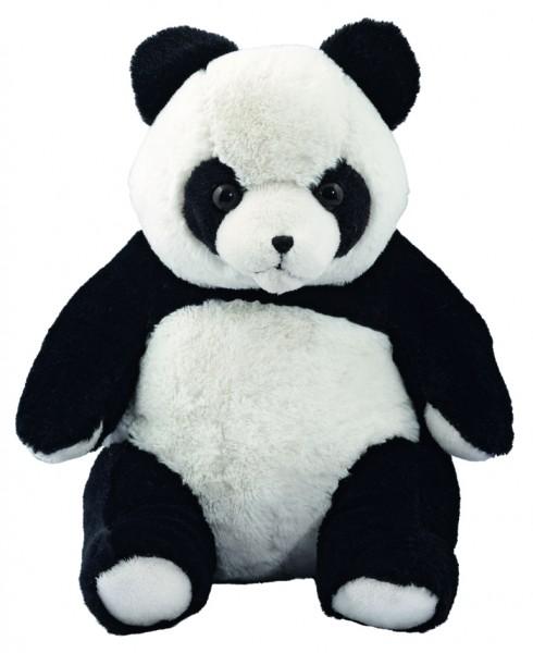 Plüsch Panda Steffen, groß - schwarz/weiß (Größe: ca. 21 cm) - optional mit Siebdrucktransfer, Direk