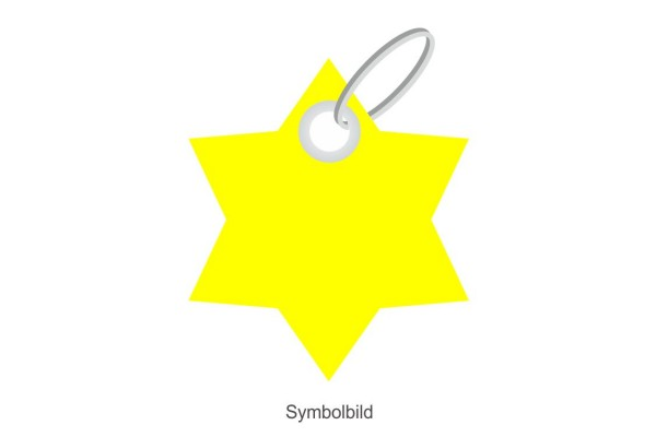 Filz Schlüsselanhänger - Stern - 6 Ecken - optional mit Aufdruck / Schlüsselring / Werbekarte