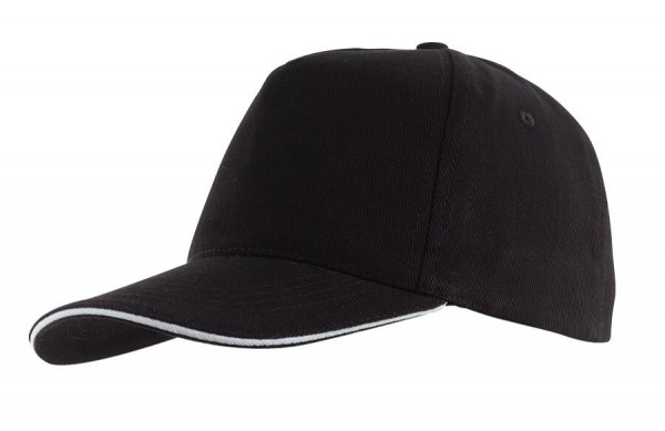 5-Panel-Sandwich-Cap WALK in schwarz