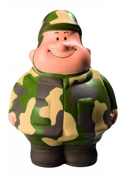 SQUEEZIES® Gefreiter Bert® - bunt (Größe: ca. 10 cm) - optional mit Tampondruck
