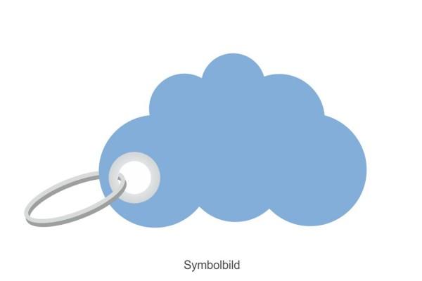 Filz Schlüsselanhänger - Cloud - Wolke - optional mit Aufdruck / Schlüsselring / Werbekarte