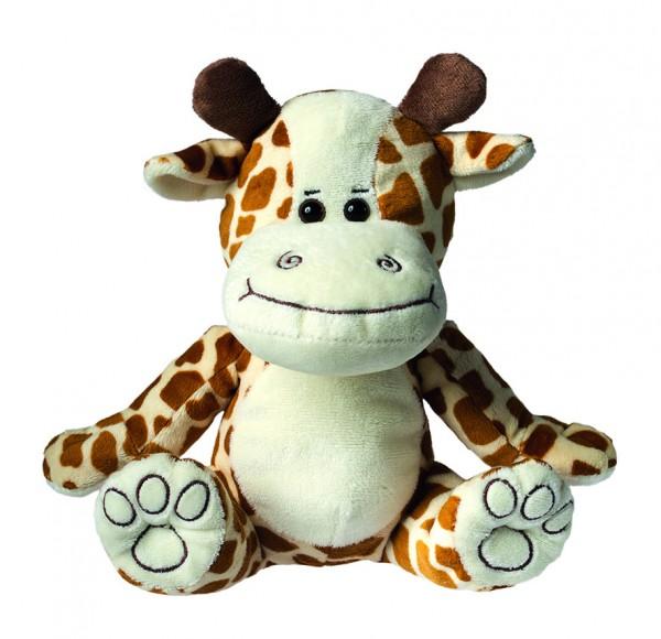 Plüsch Giraffe Leni - hellbraun (Größe: ca. 20 cm) - optional mit Siebdrucktransfer, Direkttransfer