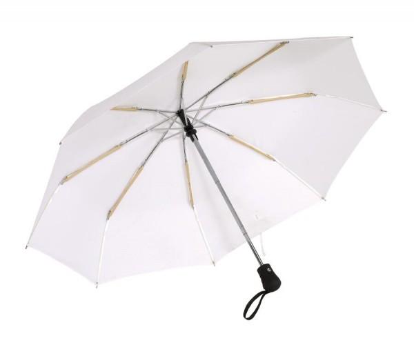 Windproof-Taschenschirm BORA in weiß