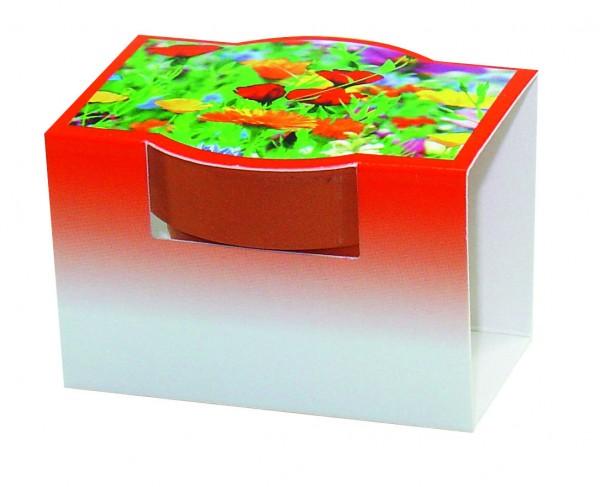 Tontöpfchen Blumengruß, bunte Blumenmischung, 1-4 c Digitaldruck inklusive