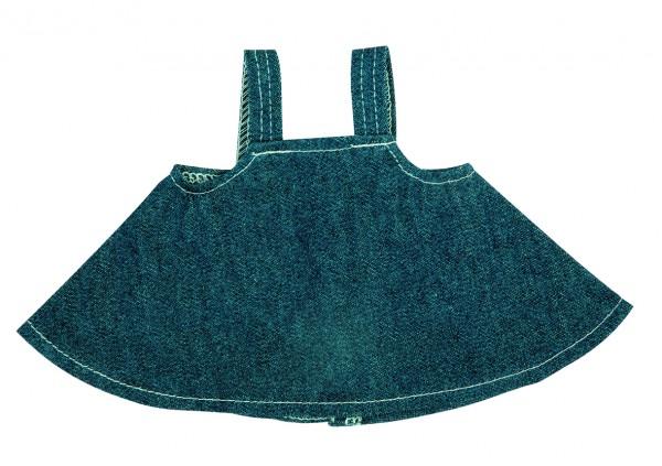 Jeans-Rock für Plüschtiere Gr. L - dunkelblau (Größe: passend für Plüschtiere) - optional mit Siebdr