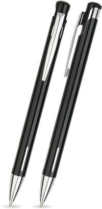 LAIKO Schwarz glänzender Metallkugelschreiber