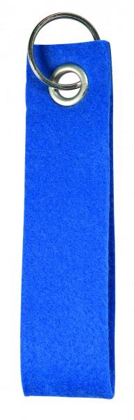 Polyesterfilz-Schlaufe Schlüsselband, groß (Filzstärke: ca. 2,5 mm) - blau - optional mit Siebdruck