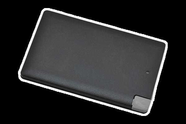 Powerbank P2500, schwarz, integriertes Kabel