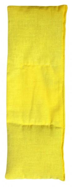 Getreidekissen/ Wärmekissen, klein - gelb (Größe: ca. 30 cm) - optional mit Siebdrucktransfer