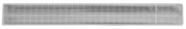 Reflexband mit Metallfeder S - silber (Größe: ca. 25 cm) - optional mit Siebdruck