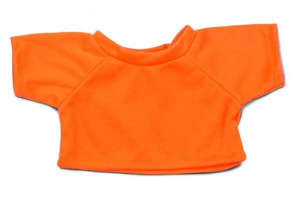 Mini-T-Shirt Gr. L - orange (Größe: passend für Plüschtiere) - optional mit Siebdrucktransfer