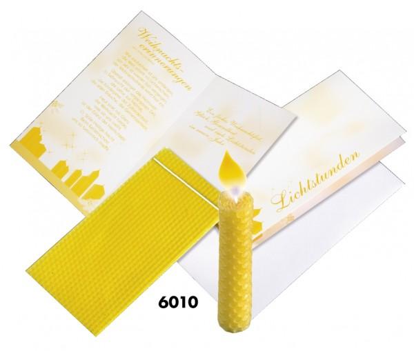 Lichtstunden-Karte, inklusive Kuvert, 1-4 c Digitaldruck inklusive