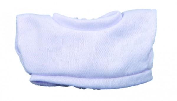 Mini-T-Shirt Gr. XS mit Klettverschluß - weiß (Größe: passend für Plüschtiere) - optional mit Siebdr