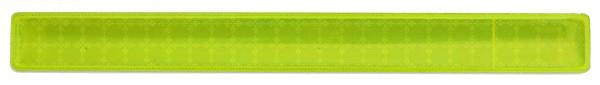 Reflexband mit Metallfeder XS - neongelb (Größe: ca. 22 cm) - optional mit Siebdruck