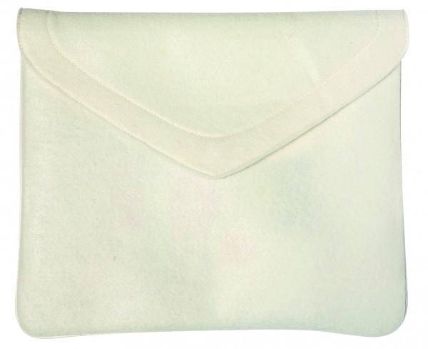 Polyesterfilz Laptop-Tasche (Filzstärke: ca. 2,5 mm) - weiß - optional mit Siebdrucktransfer
